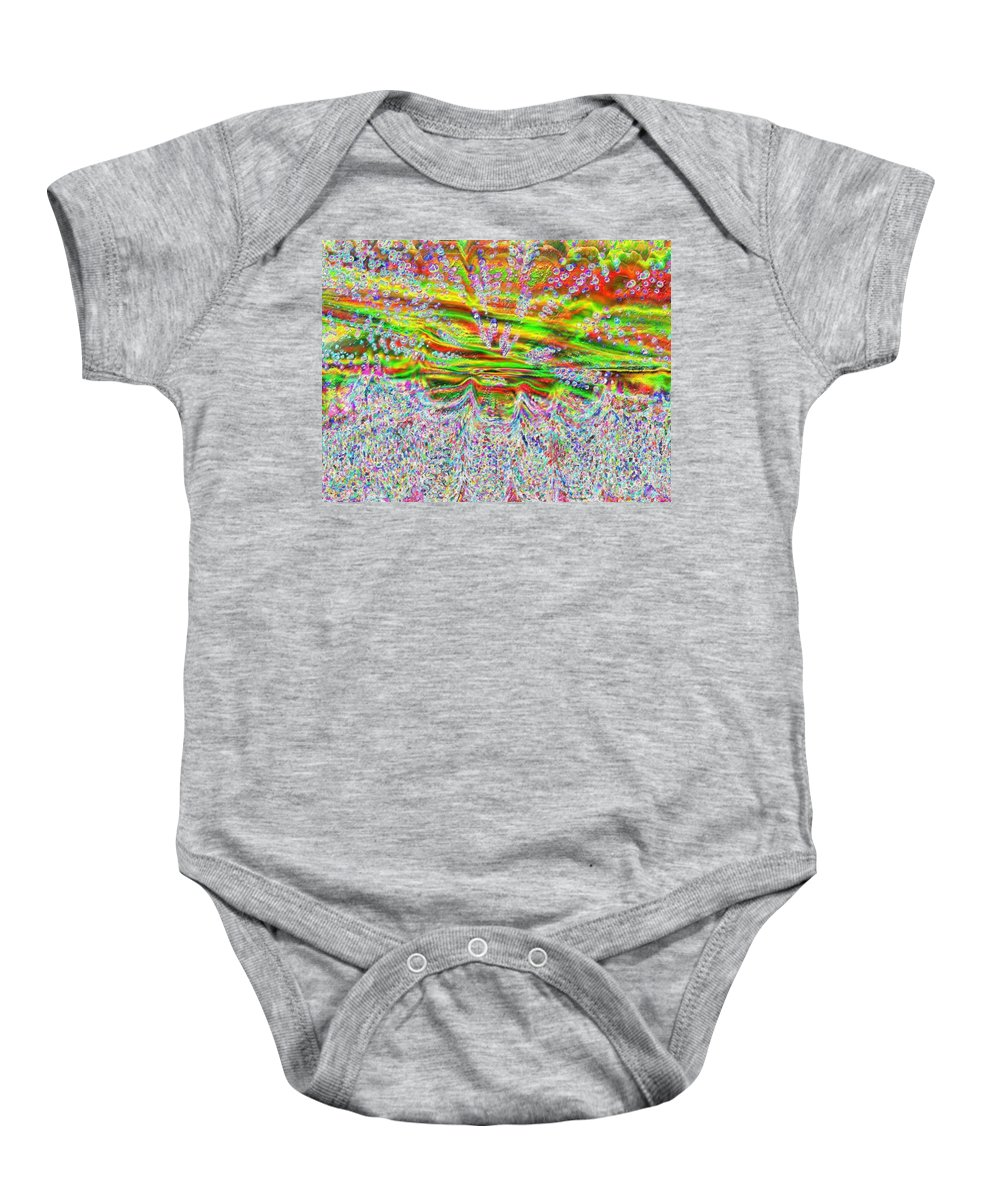 Water Baby Onesie featuring the digital art Ride The Wave by Tina Vaughn