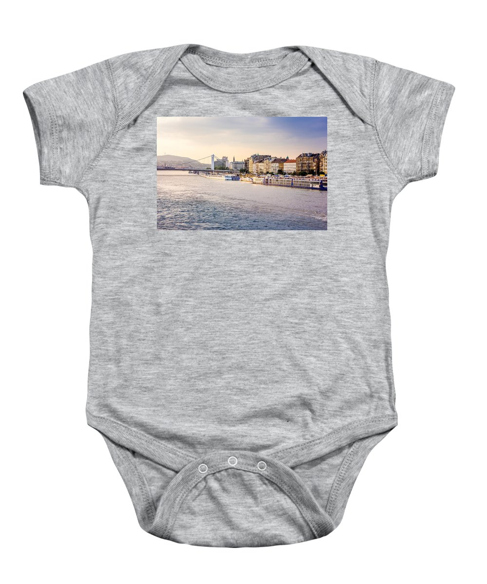 Orange Baby Onesie featuring the photograph Riverside by Pati Photography