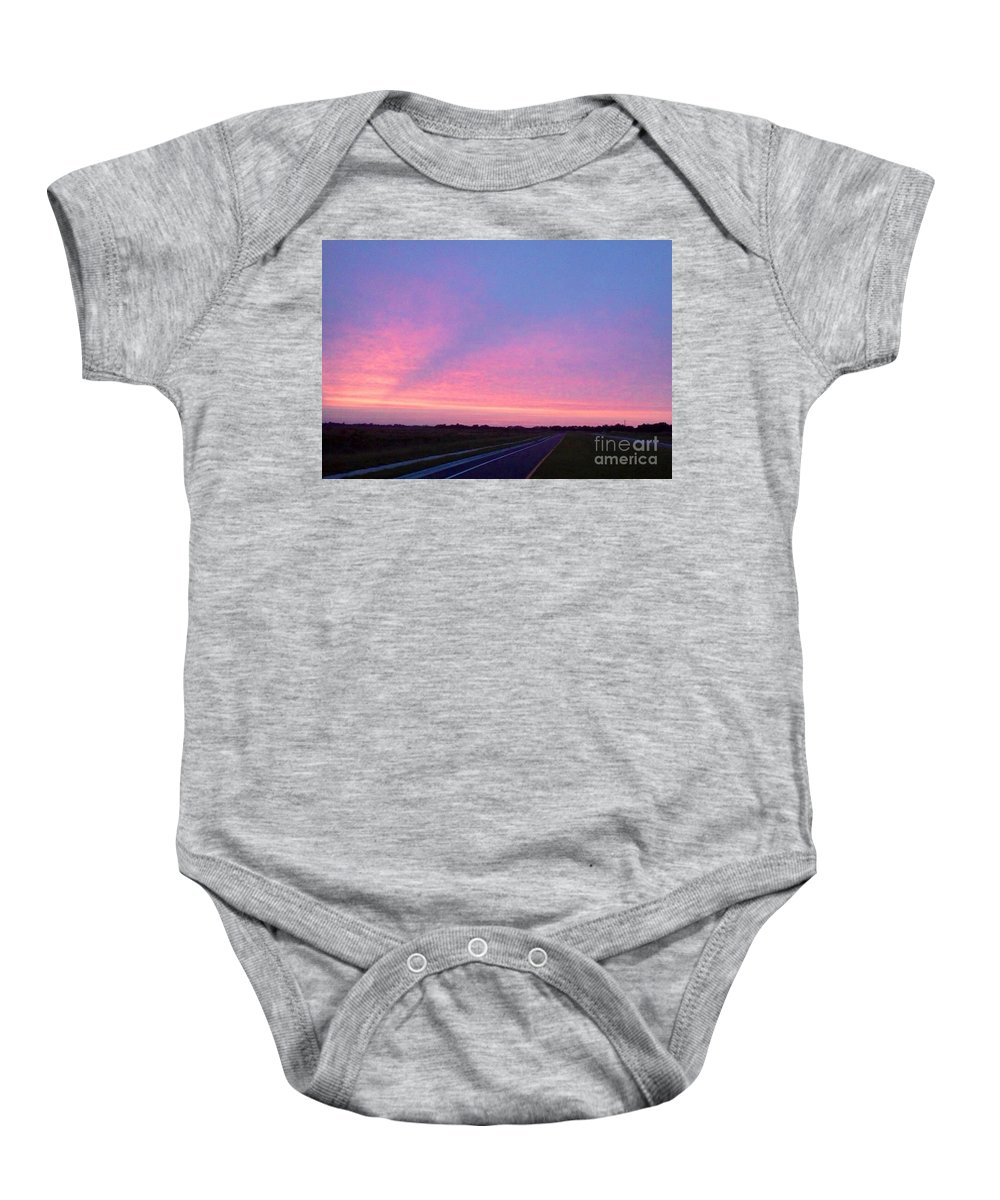 Paradise Baby Onesie featuring the photograph Road To Nowhere by Melissa Darnell Glowacki