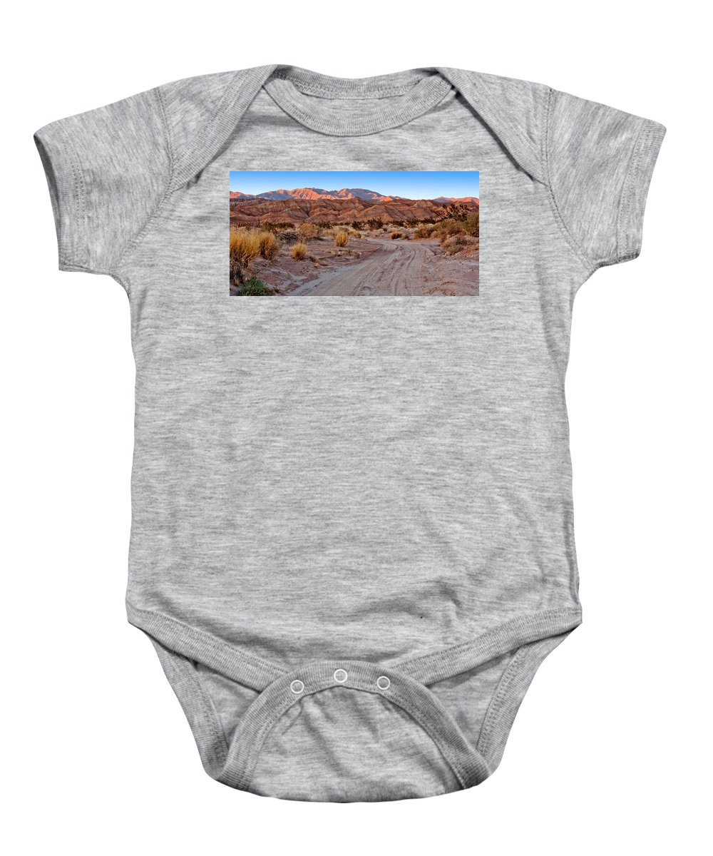 Deert Baby Onesie featuring the photograph Road To The Badlands by Peter Tellone