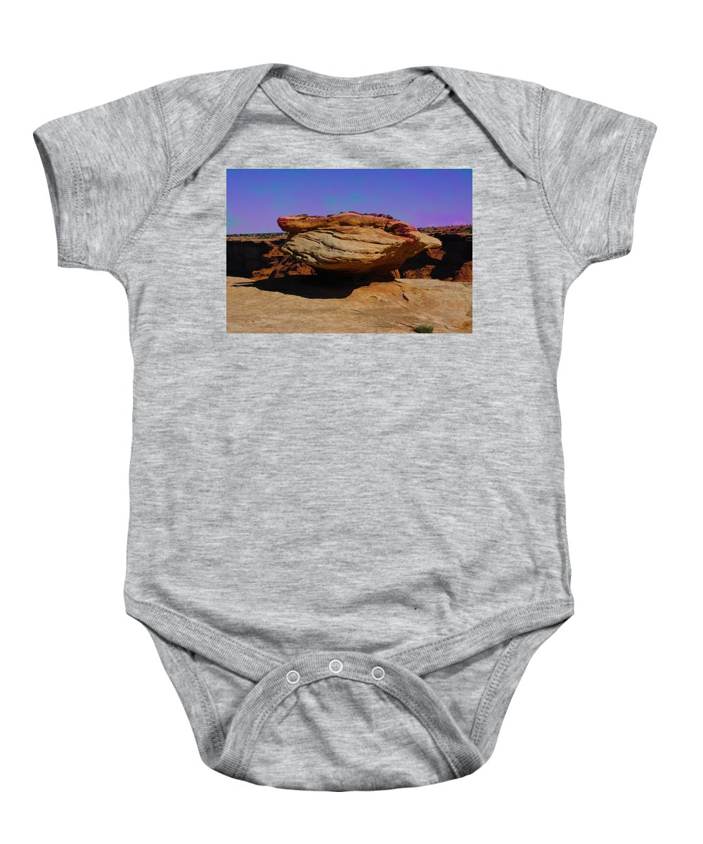 Aged Baby Onesie featuring the photograph Rock Formation In Canyon De Chelly by Dany Lison