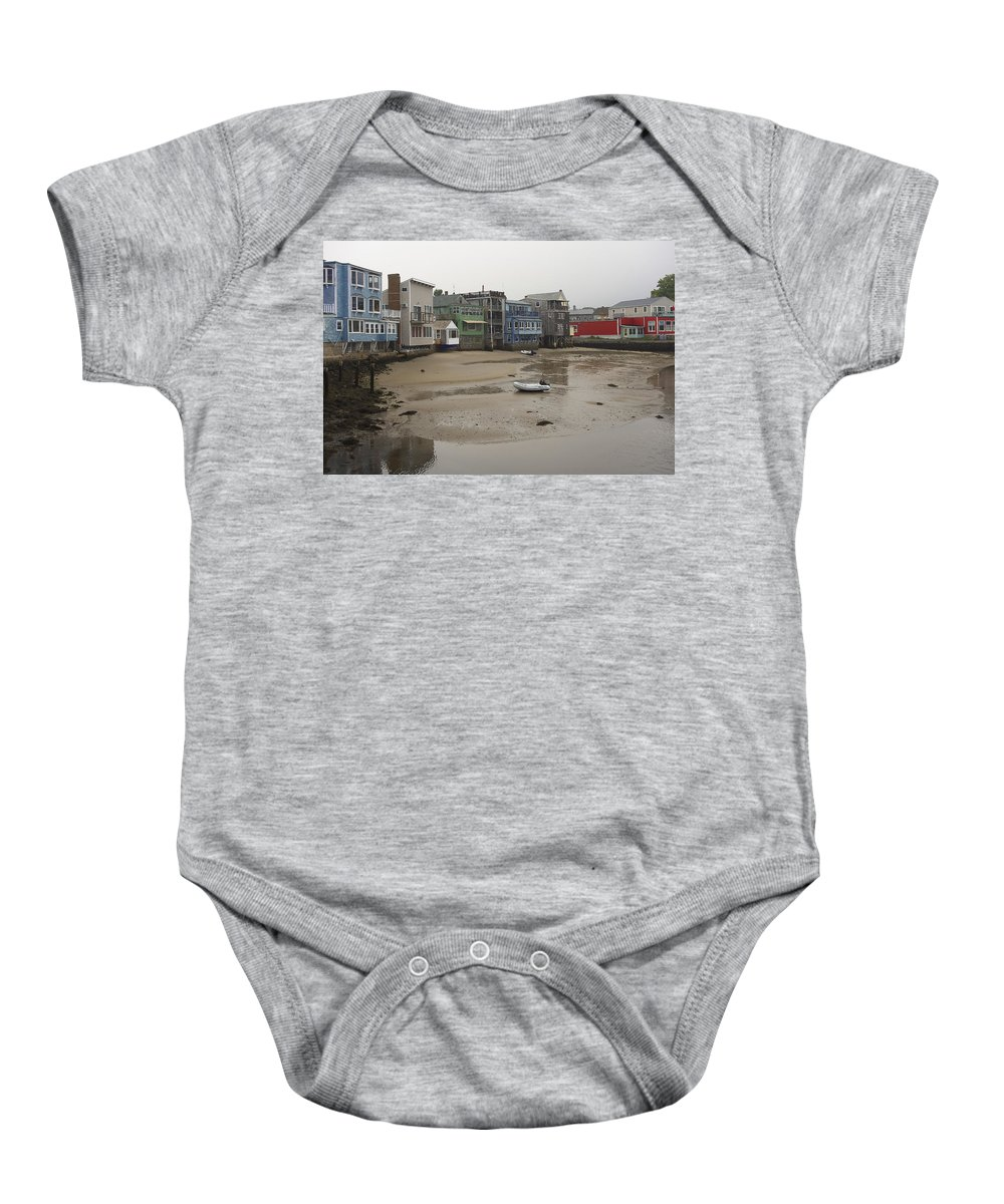 Rockport Baby Onesie featuring the photograph Rockport At Low Tide by David Stone