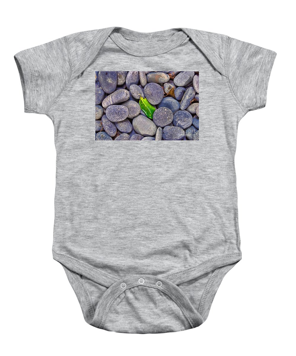 Wright Baby Onesie featuring the photograph Rocky Landing by Paulette B Wright