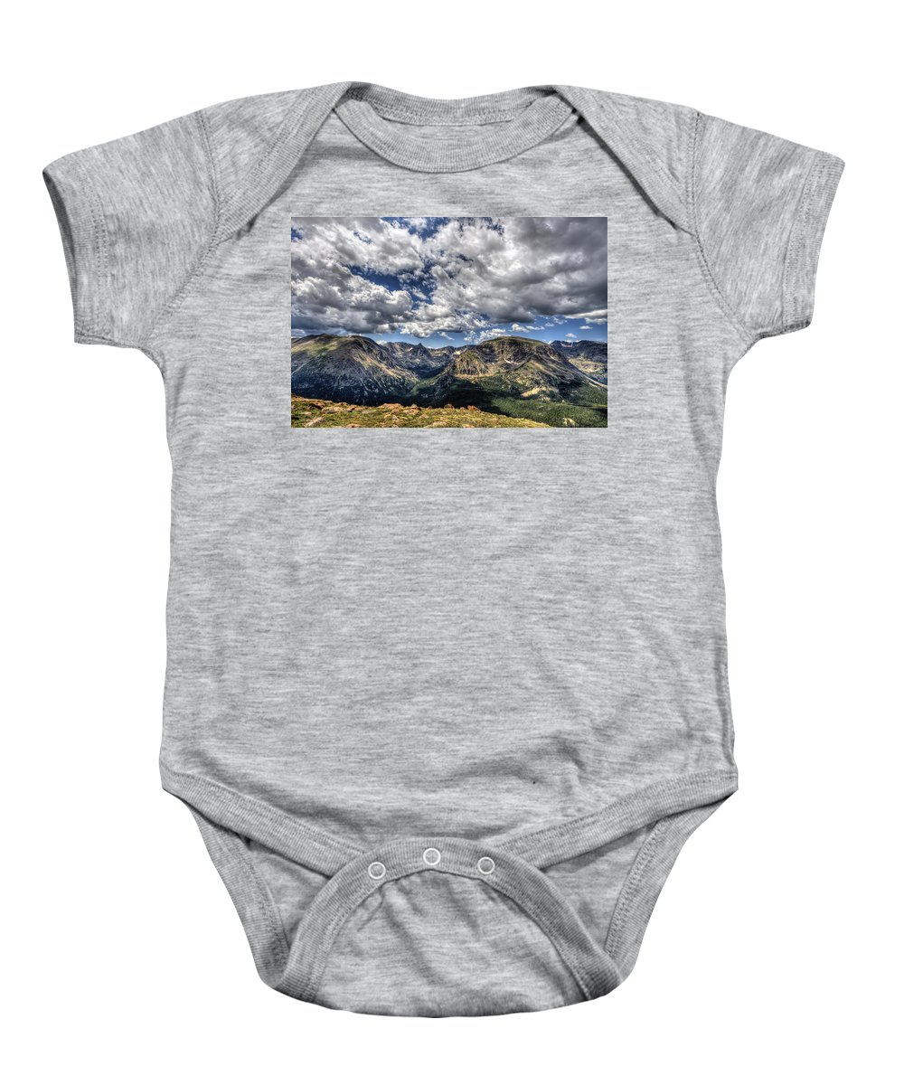 Hdr Baby Onesie featuring the photograph Rocky Mountain Dreams by Scott Wood