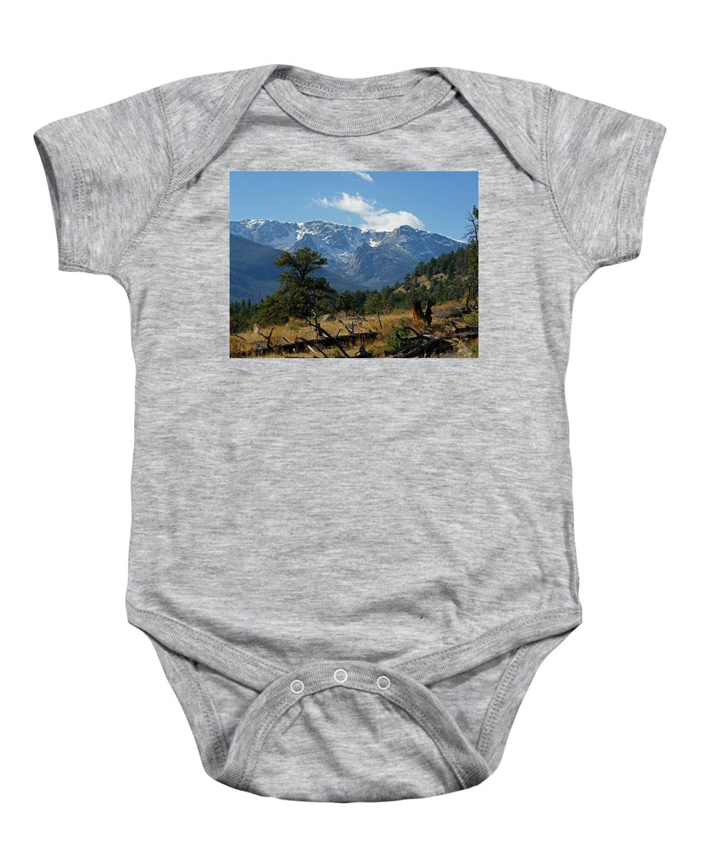 Rocky Mountains Baby Onesie featuring the photograph Rocky Mountain High by Ernie Echols