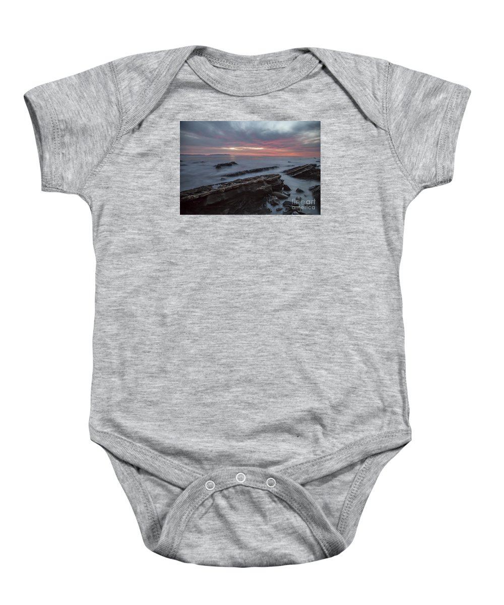 San Pedro Baby Onesie featuring the photograph Rocky Shore by James Souter
