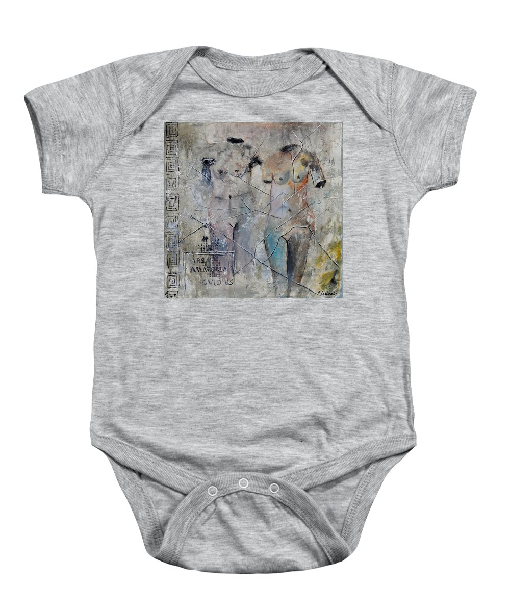 Nude Baby Onesie featuring the painting Roman Nudes 553160 by Pol Ledent