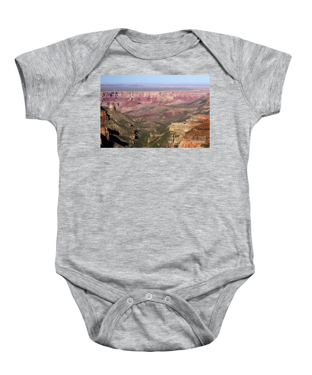 Roosevelt Point Baby Onesie featuring the photograph Roosevelt Sweeping View by Adam Jewell