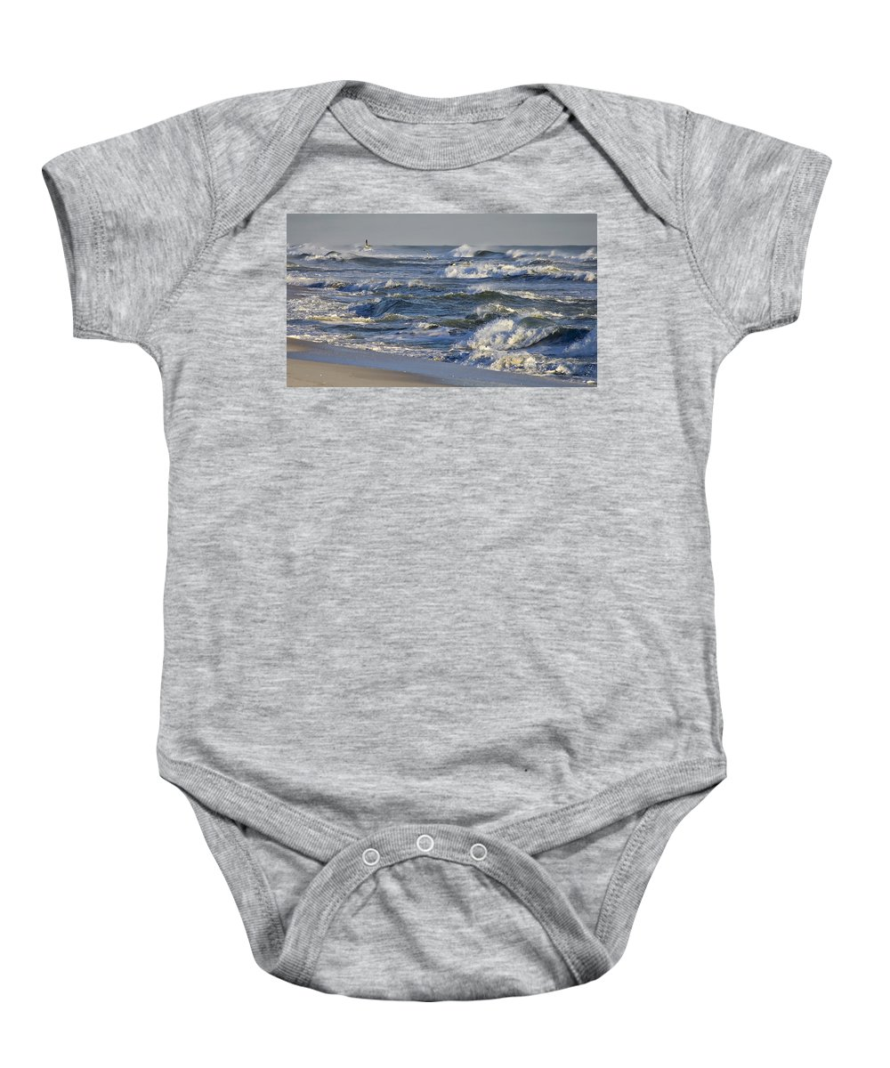 Florida Baby Onesie featuring the photograph Rough Surf by Bill Chambers