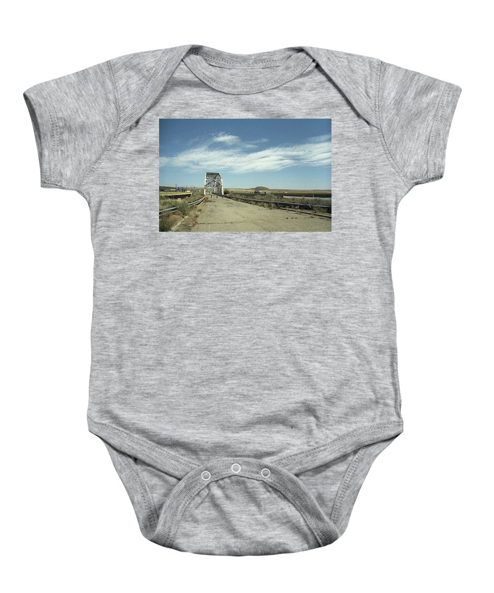 66 Baby Onesie featuring the photograph Route 66 Bridge - New Mexico by Frank Romeo