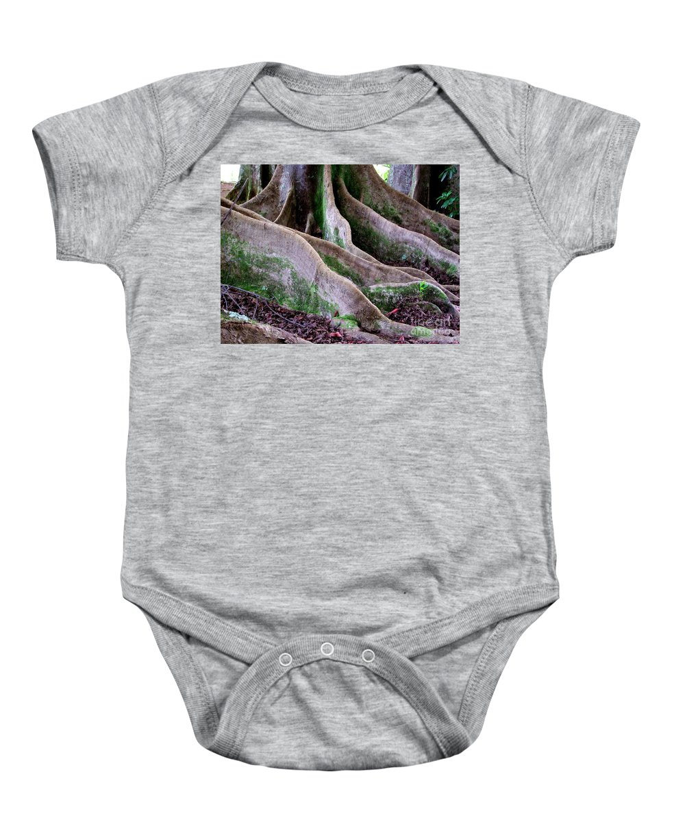 Rudraksha Baby Onesie featuring the photograph Rudraksha 2 by Mary Deal