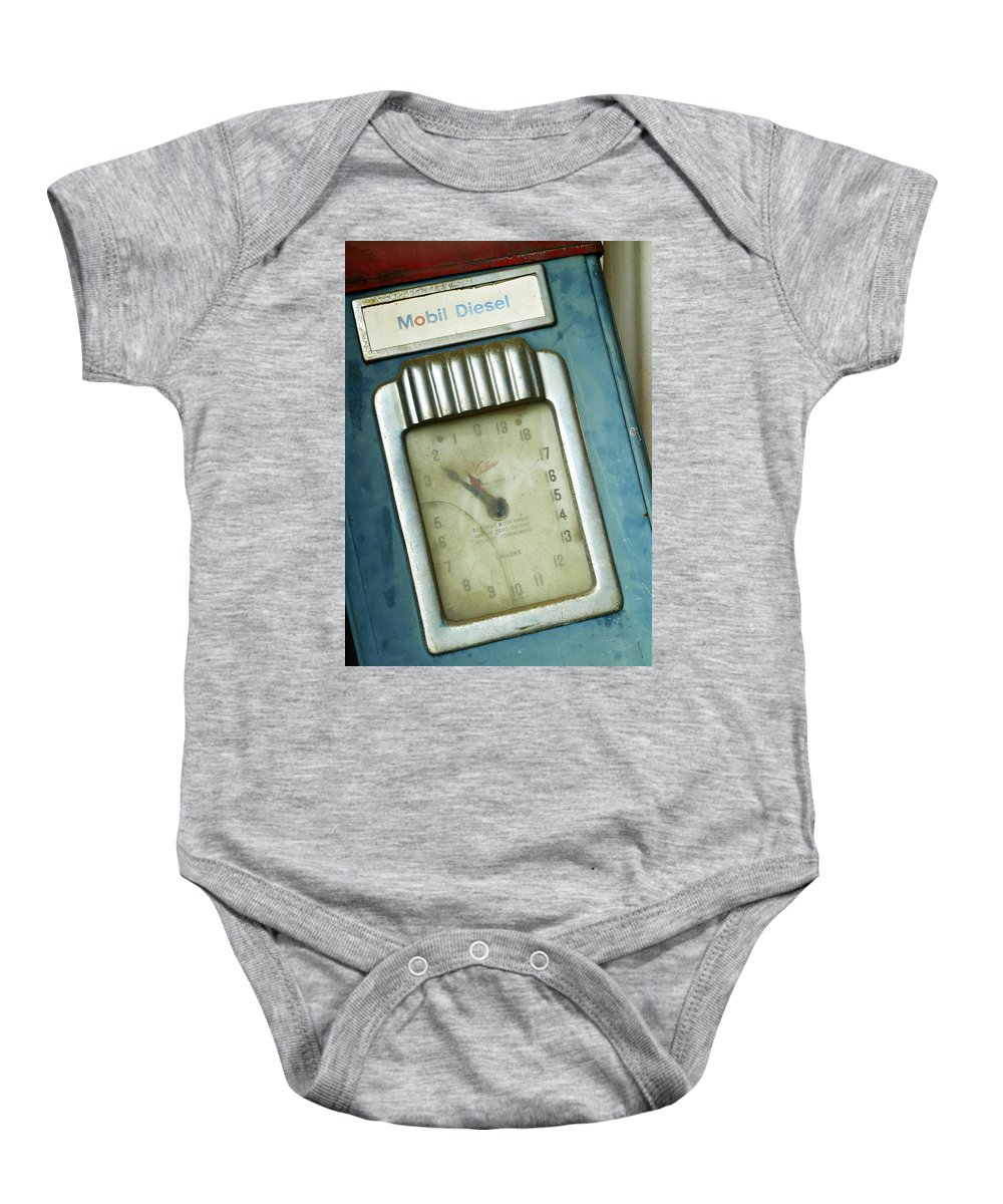 Gas Baby Onesie featuring the photograph Running Low by Steve Taylor