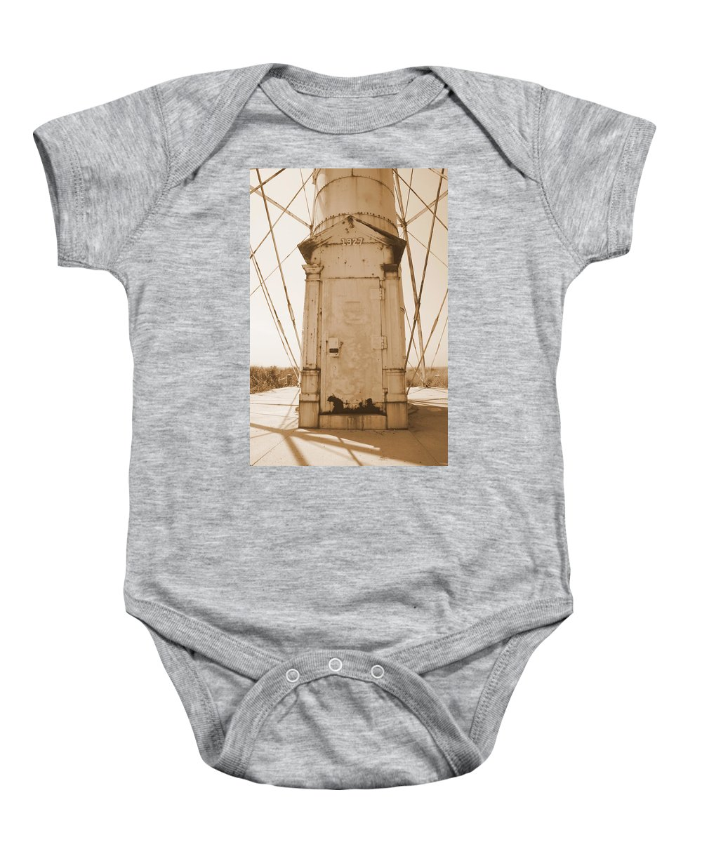 Boca Grande Baby Onesie featuring the photograph Rusty Door by Laurie Perry