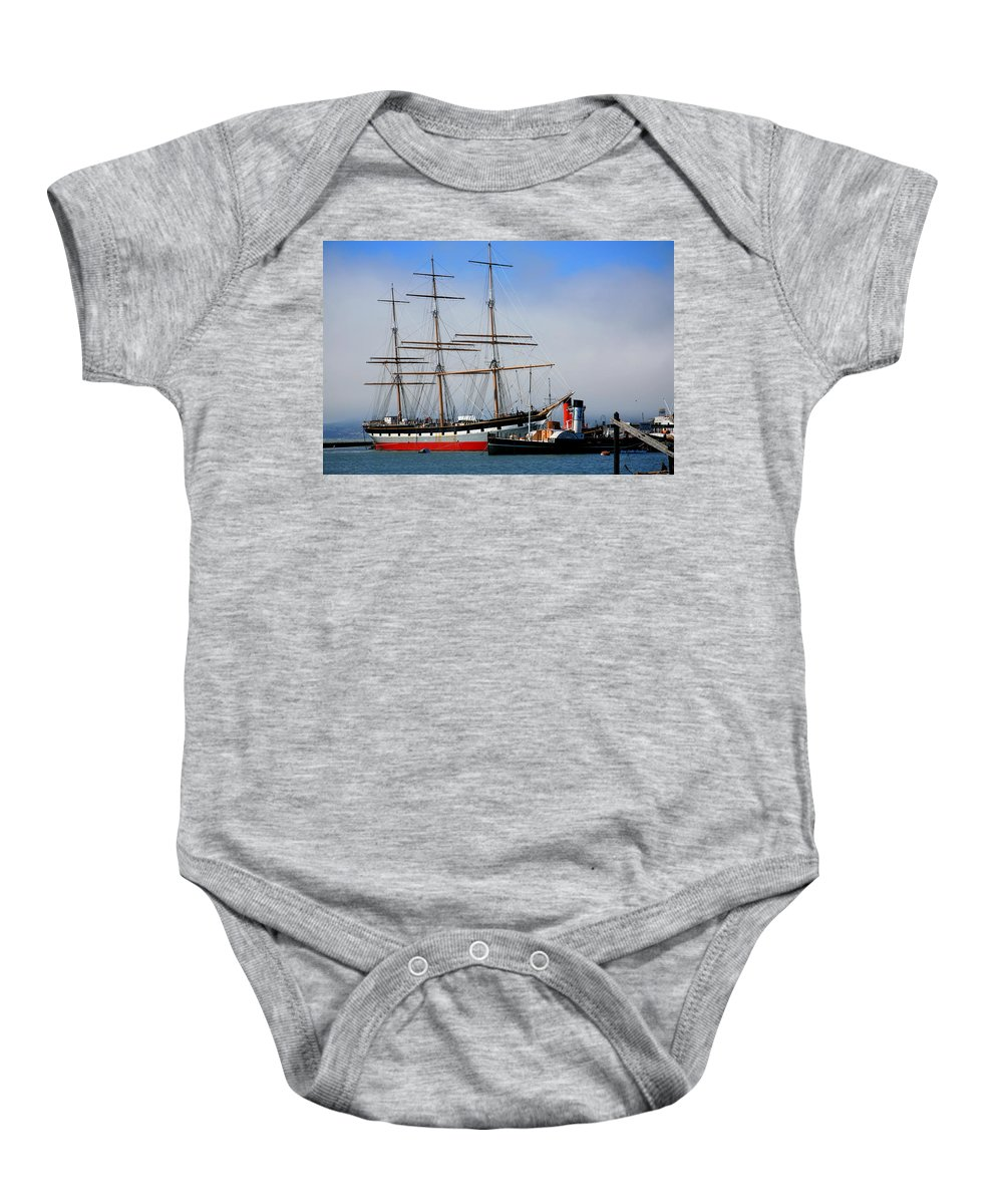 Ocean Baby Onesie featuring the photograph Sail Away by Gary Emilio Cavalieri