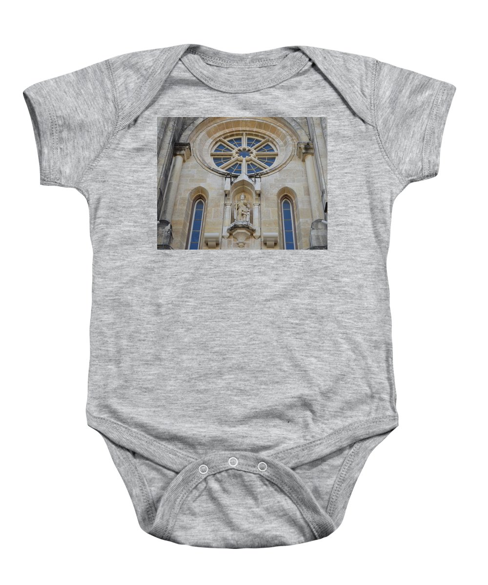 Architecture Baby Onesie featuring the photograph San Antonio Church 03 by Shawn Marlow