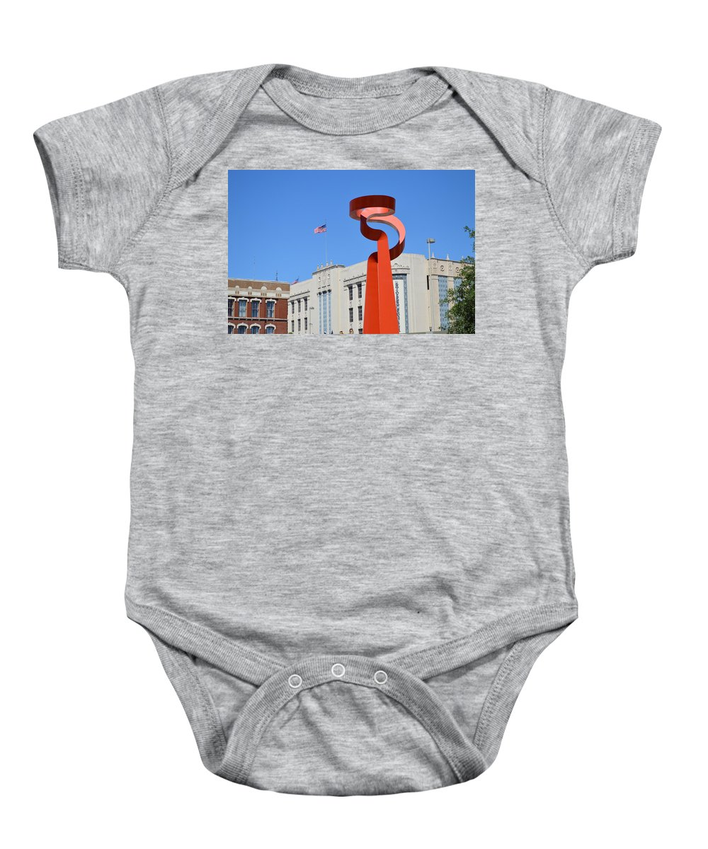 Architecture Baby Onesie featuring the photograph San Antonio Tx by Shawn Marlow