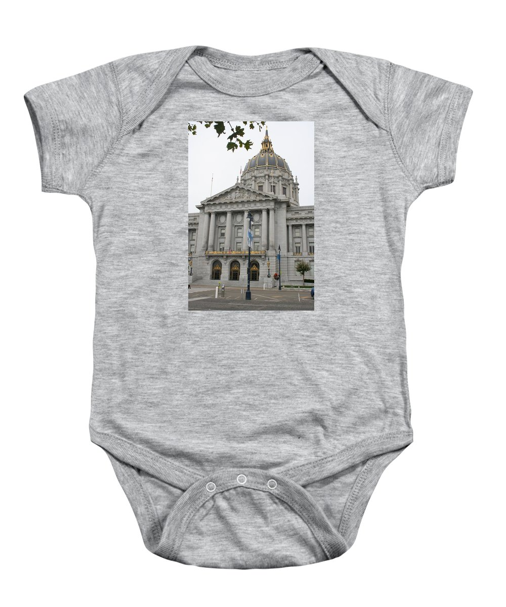 San Francisco Baby Onesie featuring the photograph San Francisco City Hall by Christiane Schulze Art And Photography