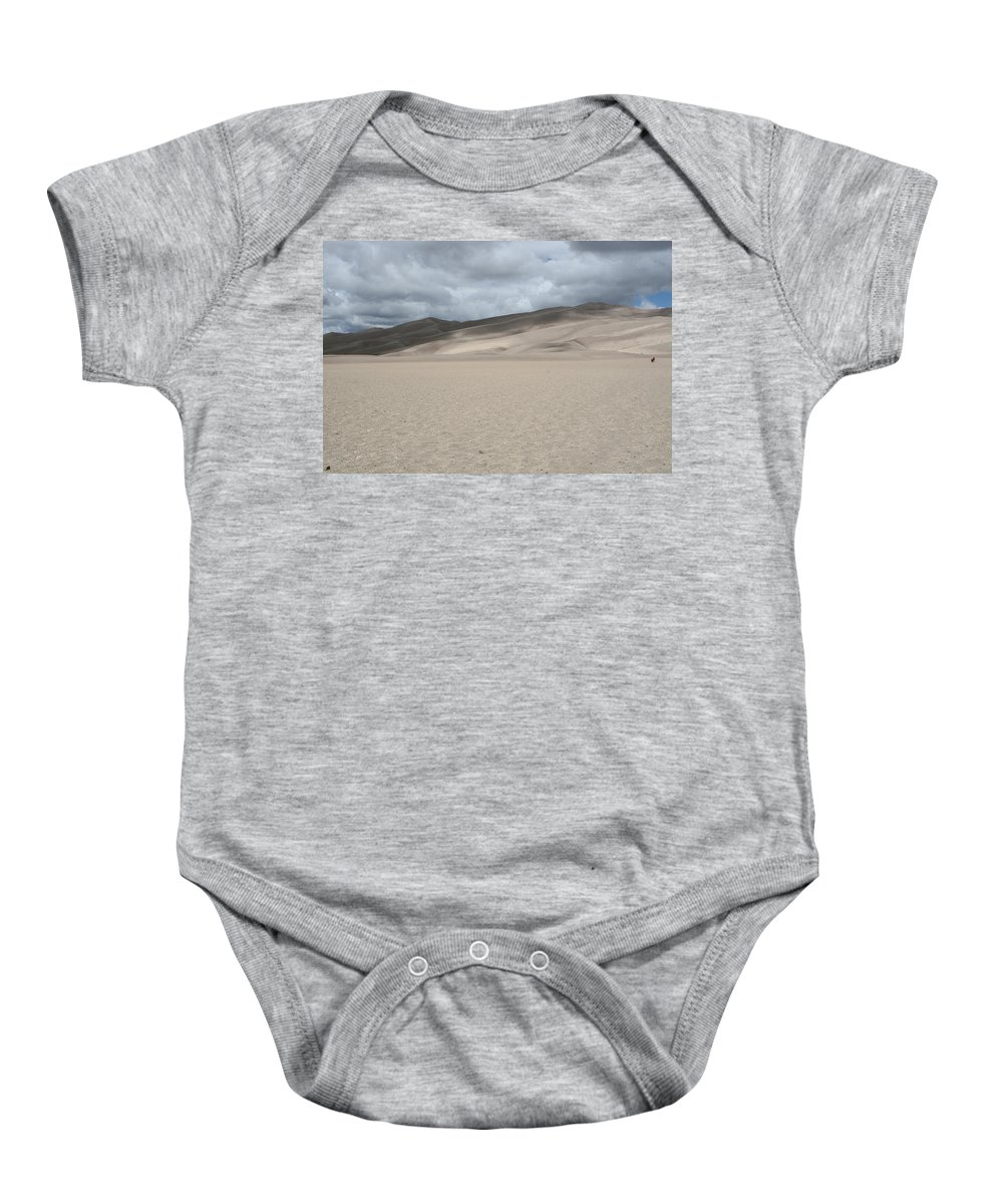 Mountains Baby Onesie featuring the photograph Sand Dunes Park by Shirley Roberson