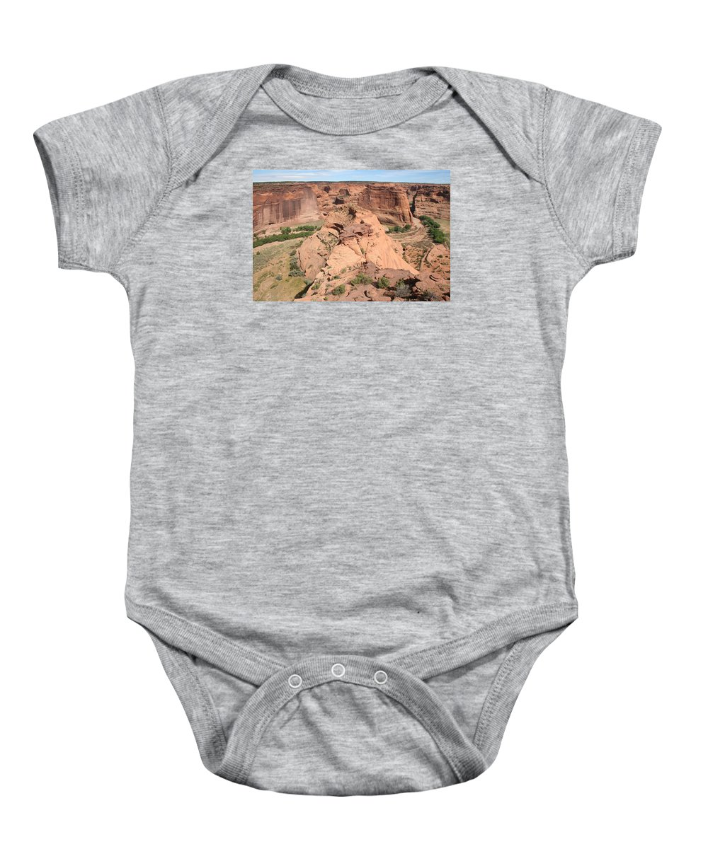 Canyon Baby Onesie featuring the photograph Scenic Canyon De Chelly by Christiane Schulze Art And Photography