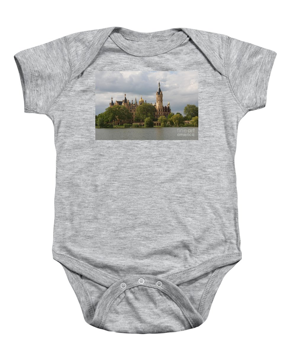 Schwerin Baby Onesie featuring the photograph Schwerin Palace - Germany by Christiane Schulze Art And Photography