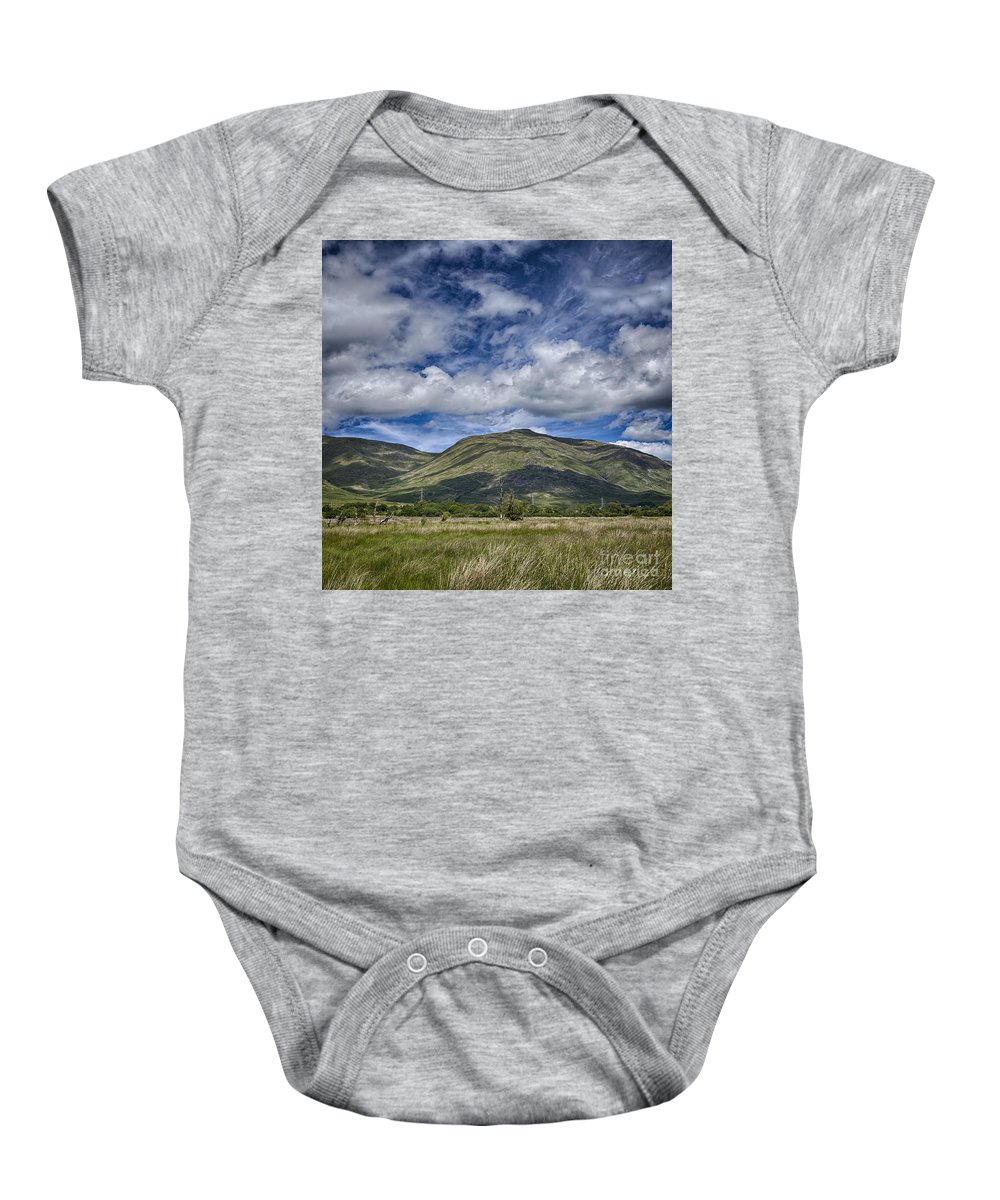 Loch Baby Onesie featuring the photograph Scotland Loch Awe Mountain Landscape by Sophie McAulay