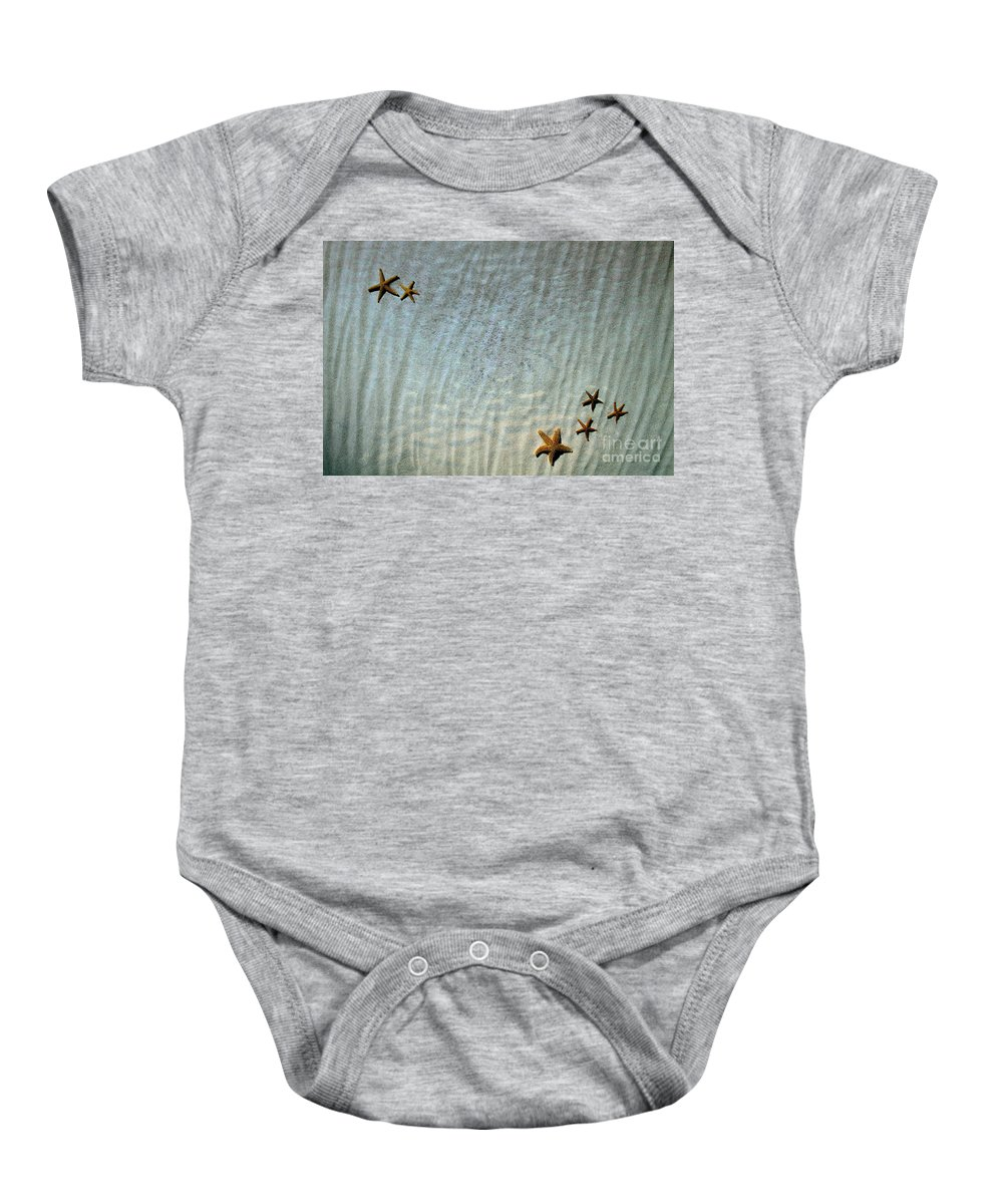 Starfish Baby Onesie featuring the photograph Sea Life by Andrea Kollo
