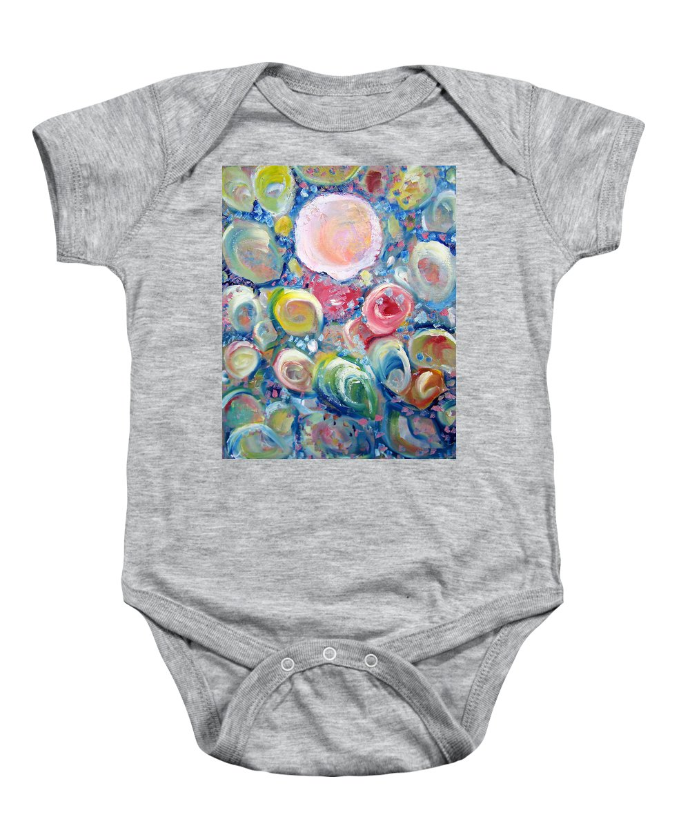 Shells Baby Onesie featuring the painting Sea Shells by Patricia Taylor