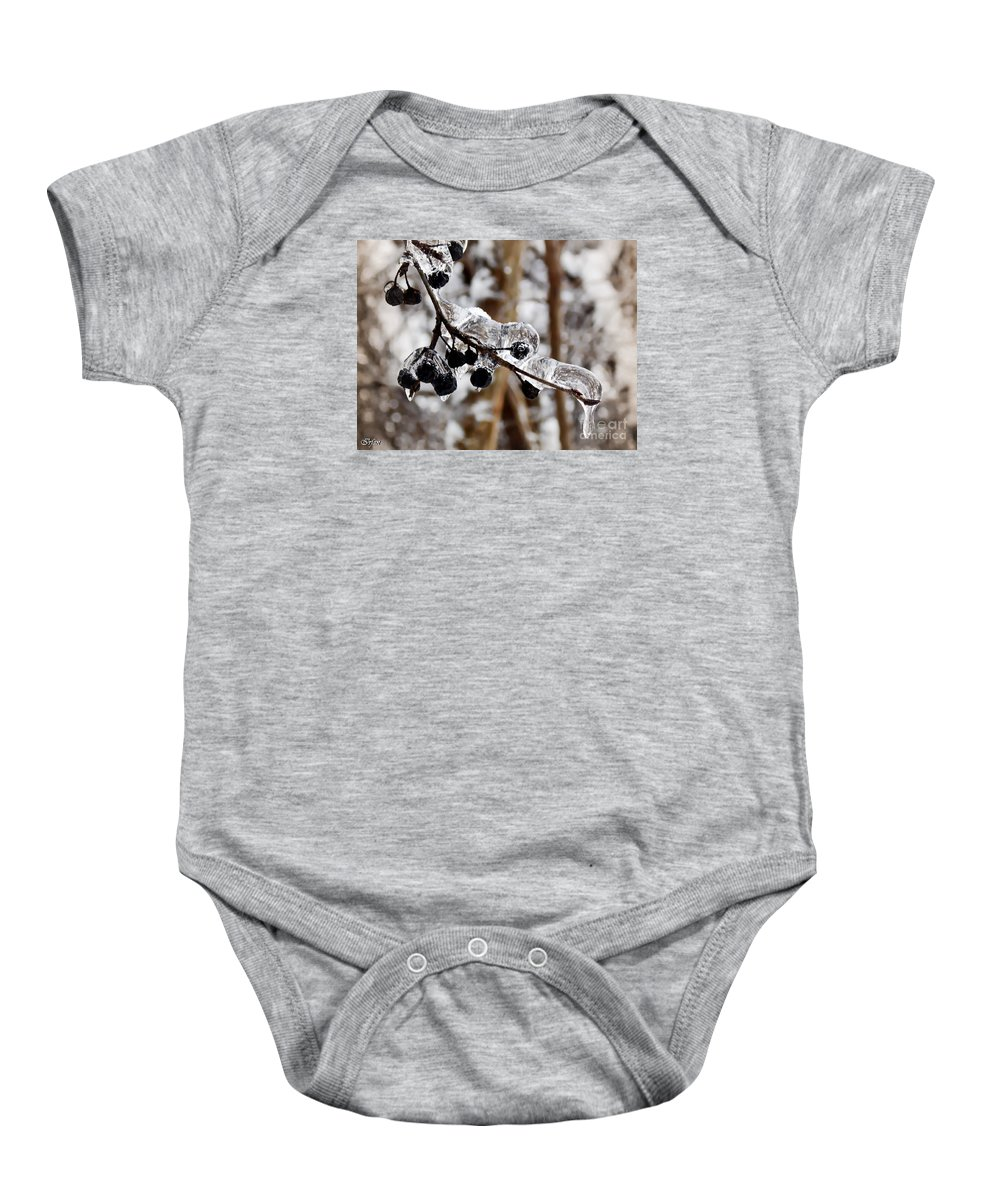 Irfan Collection Baby Onesie featuring the photograph Sealed In Ice by Irfan Gillani