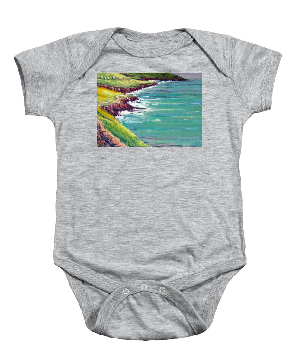 Marsh Baby Onesie featuring the painting Seaside Path by Julia RIETZ
