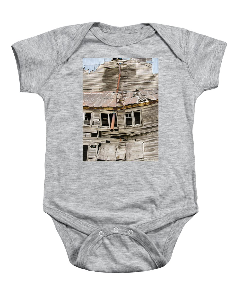 The Palouse Baby Onesie featuring the photograph Seen Better Days by Bob Phillips