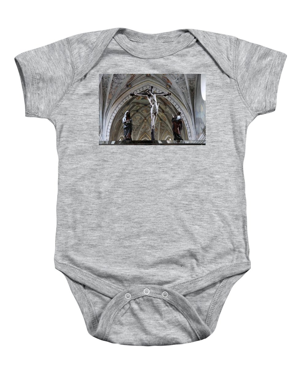 Seeon Abbey Church Baby Onesie featuring the photograph Seeon Abbey Church Detail by Christiane Schulze Art And Photography