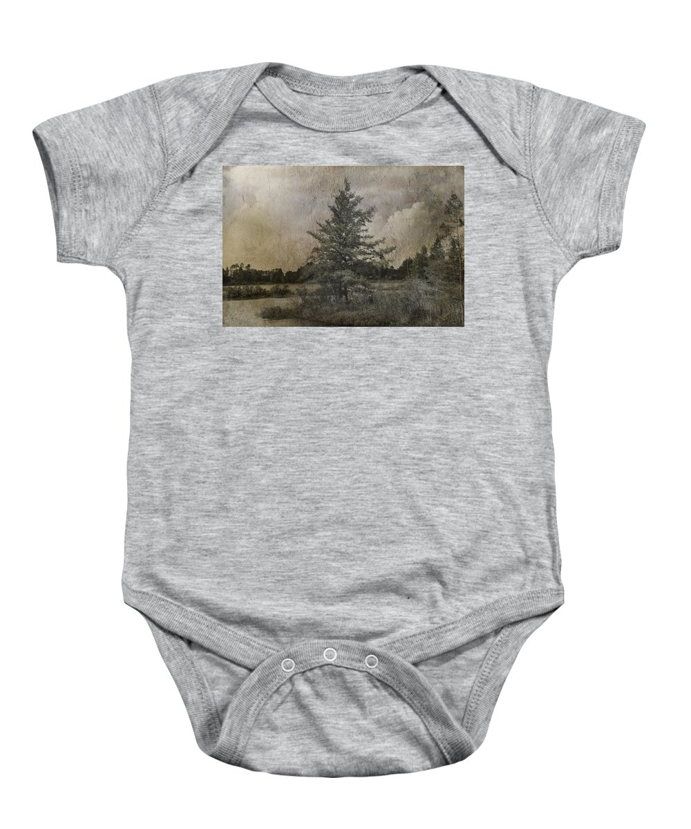 Evie Baby Onesie featuring the photograph Seney Latte by Evie Carrier