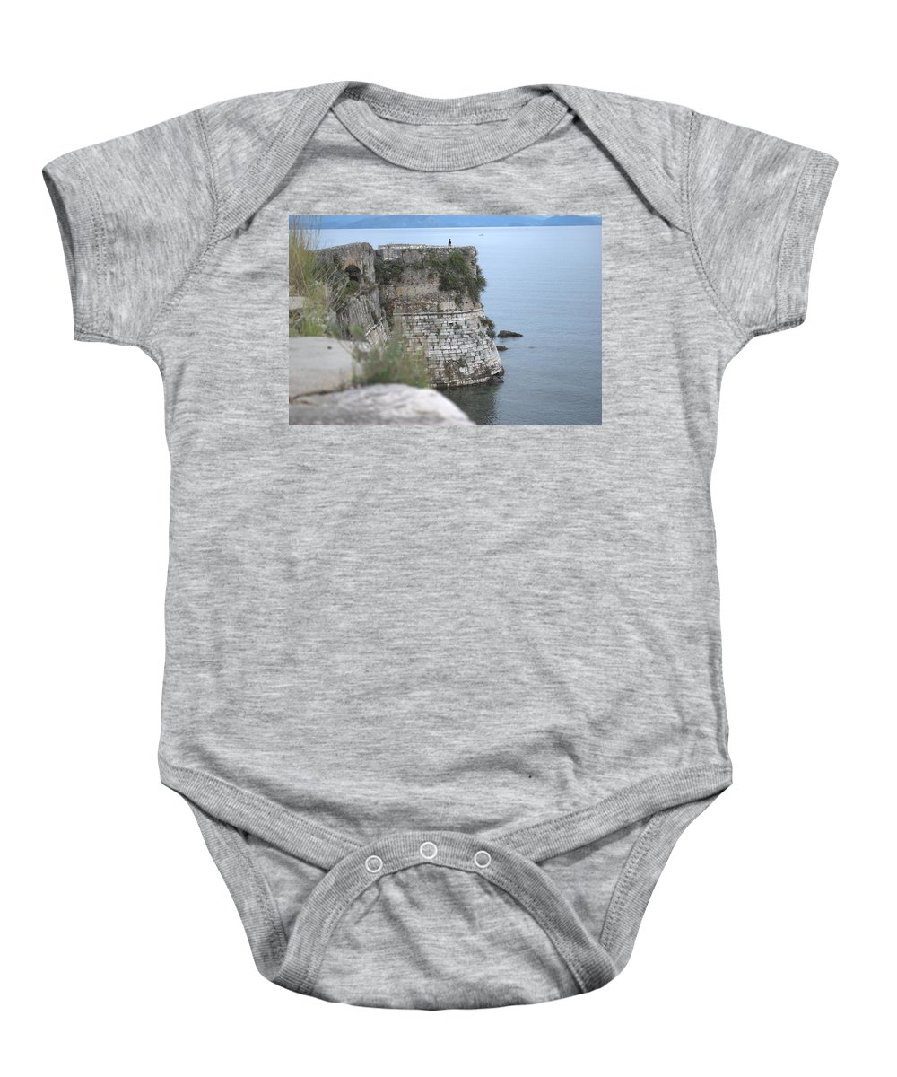 Corfu Baby Onesie featuring the photograph Sentinel On Duty by George Katechis