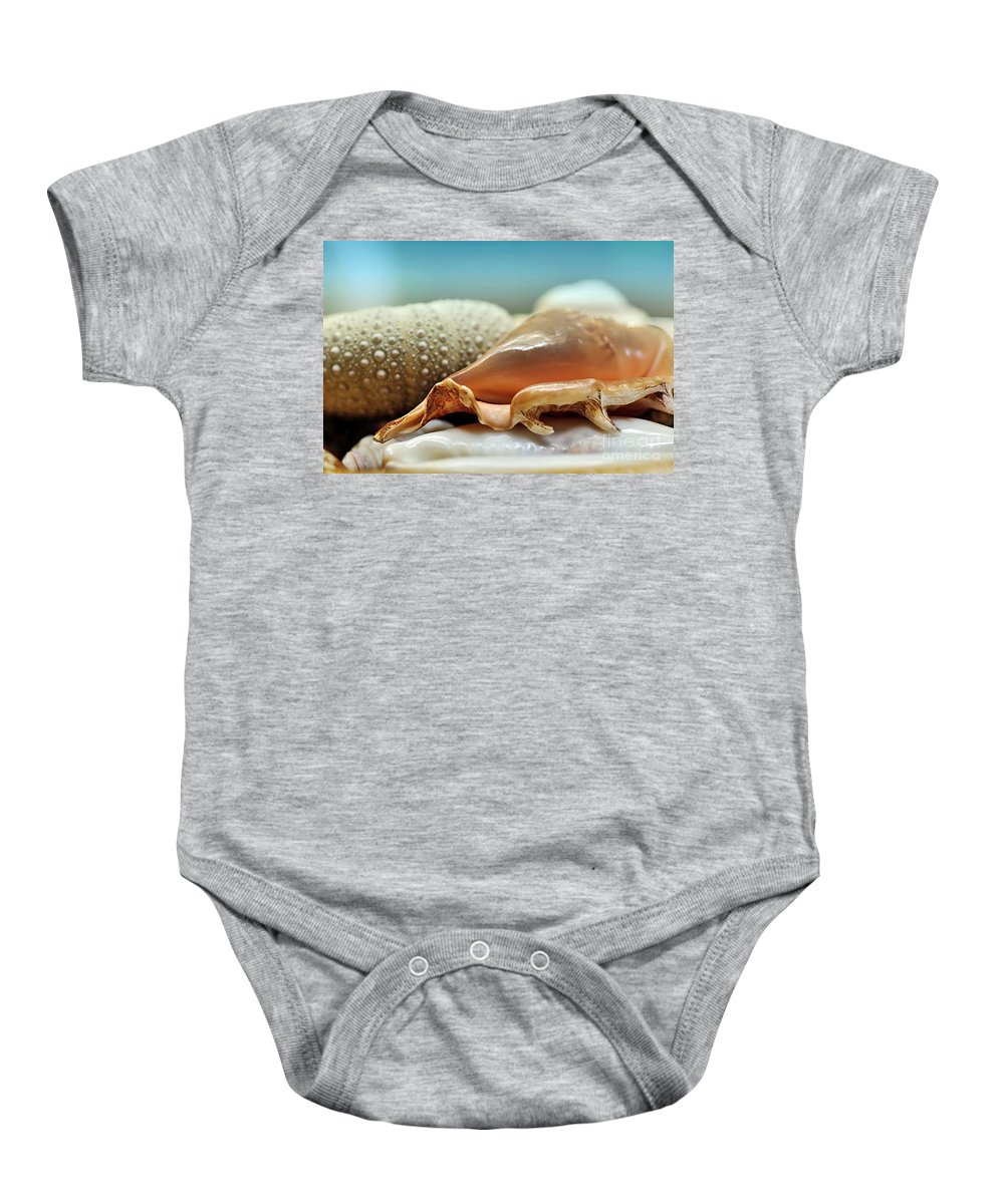 Photography Baby Onesie featuring the photograph Sept Doigts by Kaye Menner
