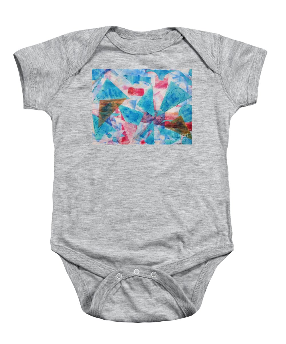 Collage Baby Onesie featuring the painting Serendipity by Yael VanGruber