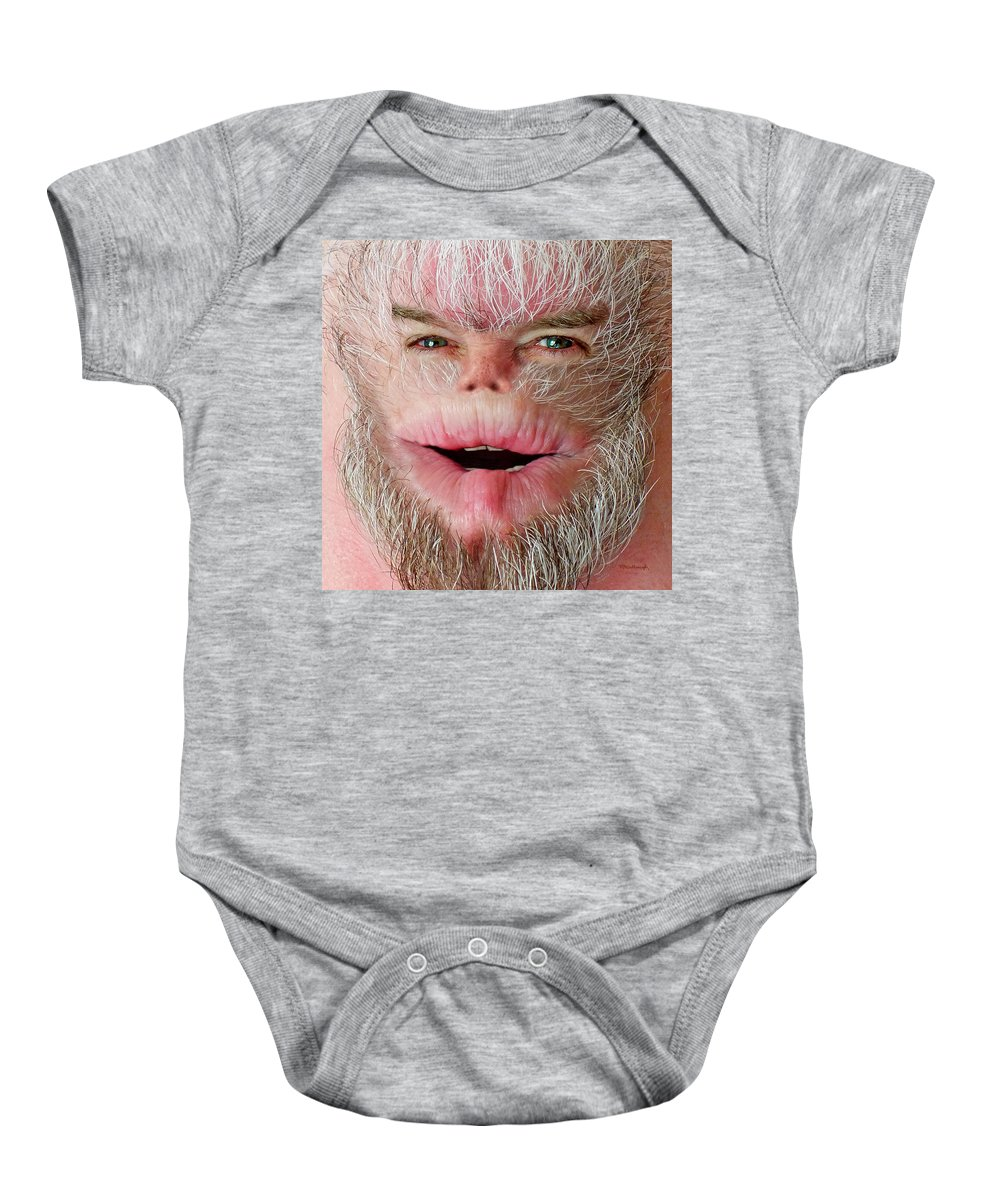 Harry Baby Onesie featuring the photograph Serious Harry by Duane McCullough
