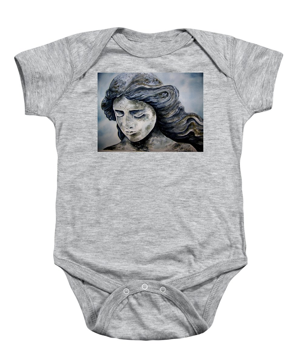 Stone Baby Onesie featuring the painting Set In Stone by Brenda Owen
