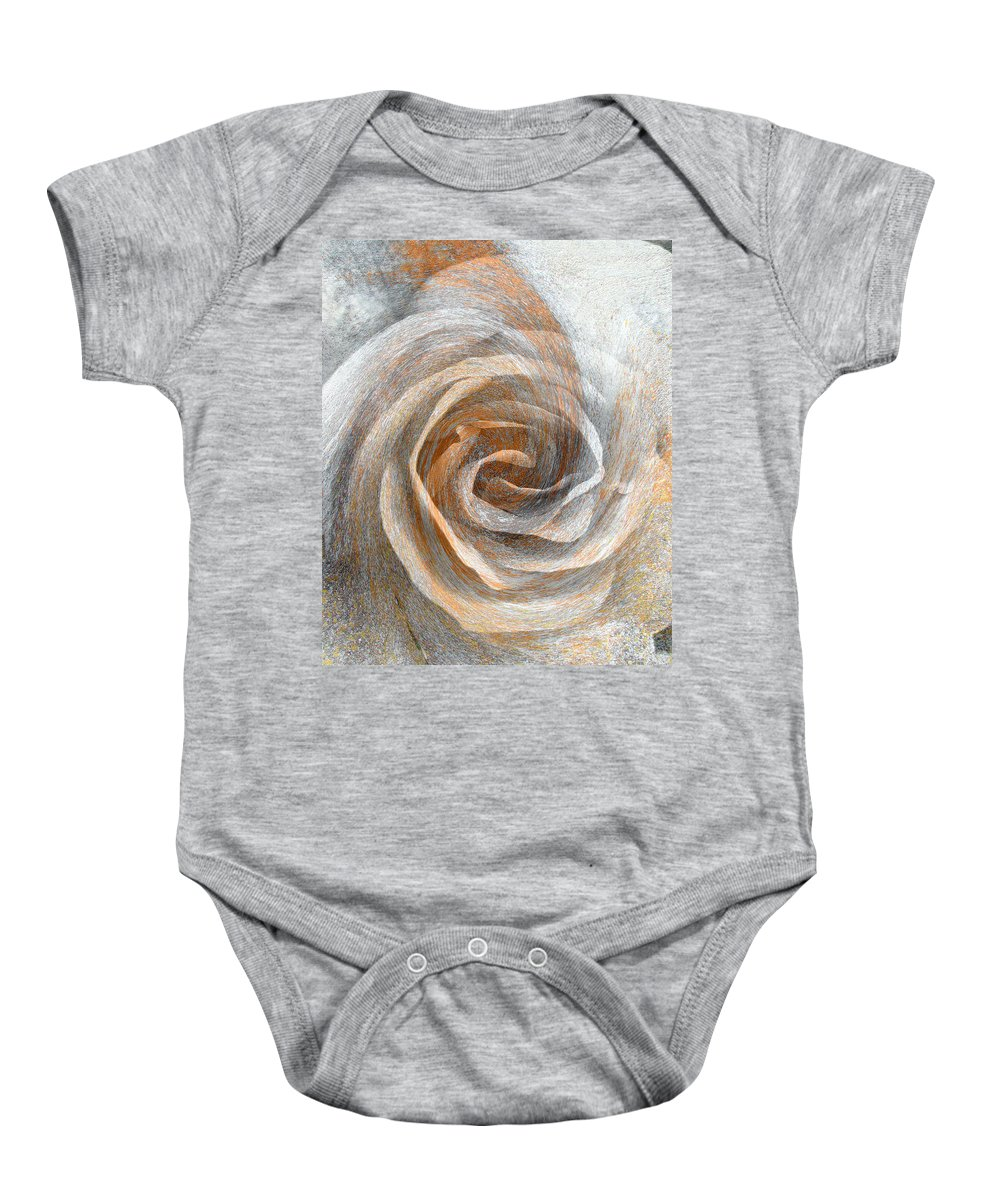 Abstract Baby Onesie featuring the photograph Set In Stone by Brooks Garten Hauschild