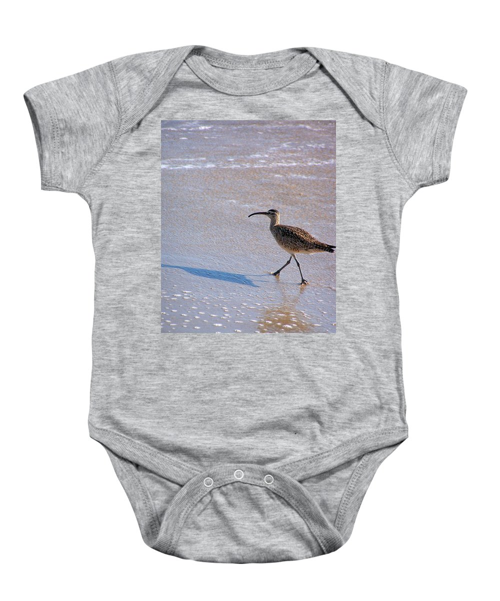 Shadow Walker Baby Onesie featuring the photograph Shadow Walker by Jennifer Robin