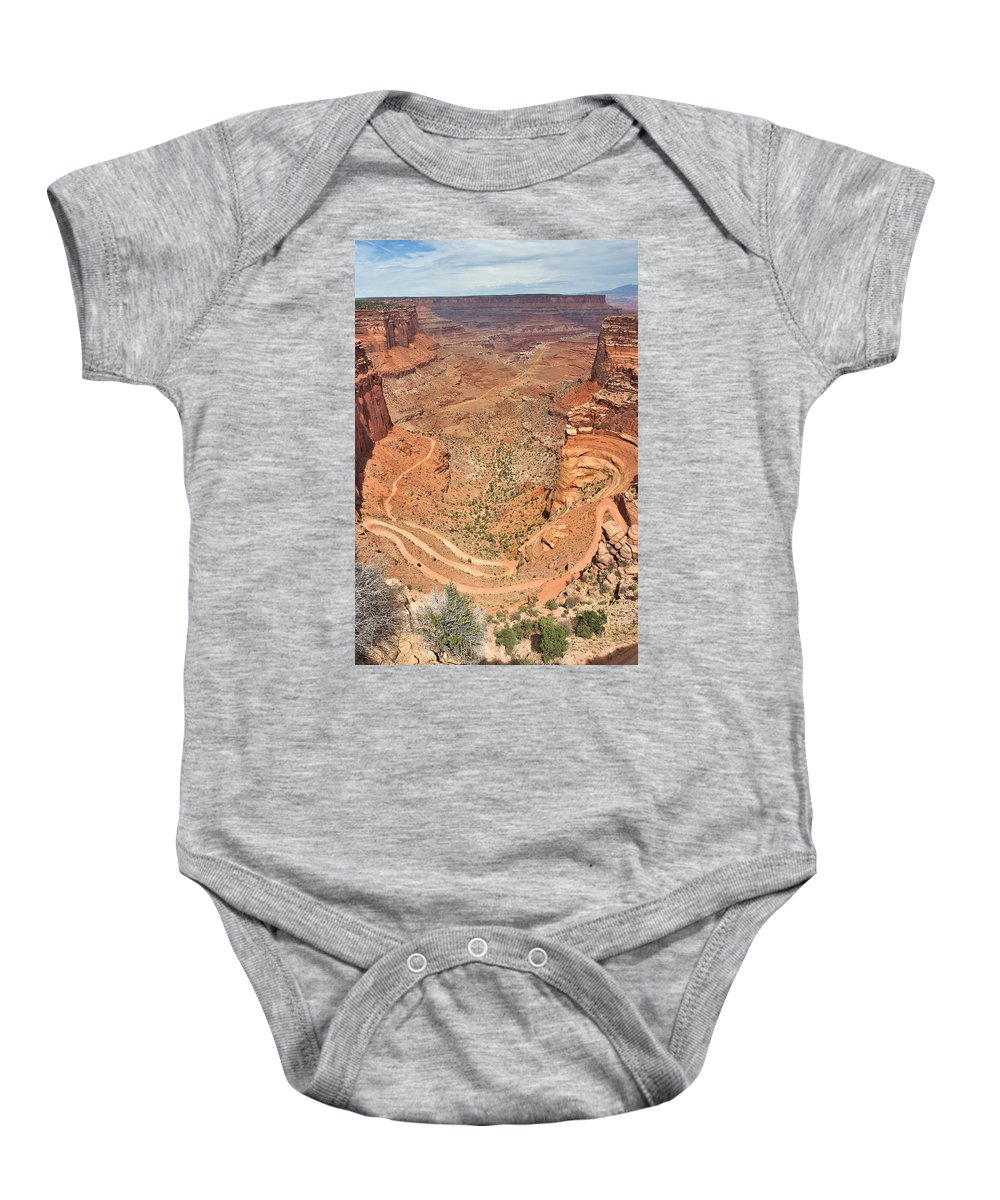 3scape Photos Baby Onesie featuring the photograph Shafer Trail by Adam Romanowicz