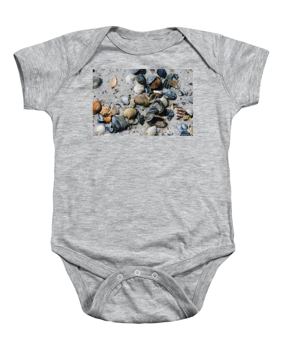 Beach Baby Onesie featuring the photograph Shells by Gayle Miller