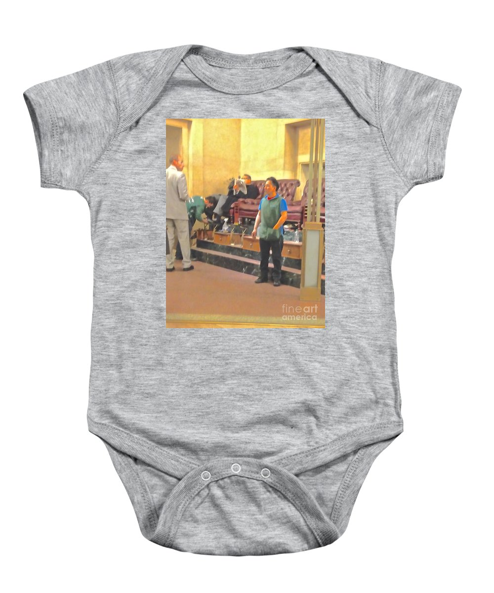 Shoe Baby Onesie featuring the photograph Shine Anyone? by Christy Gendalia