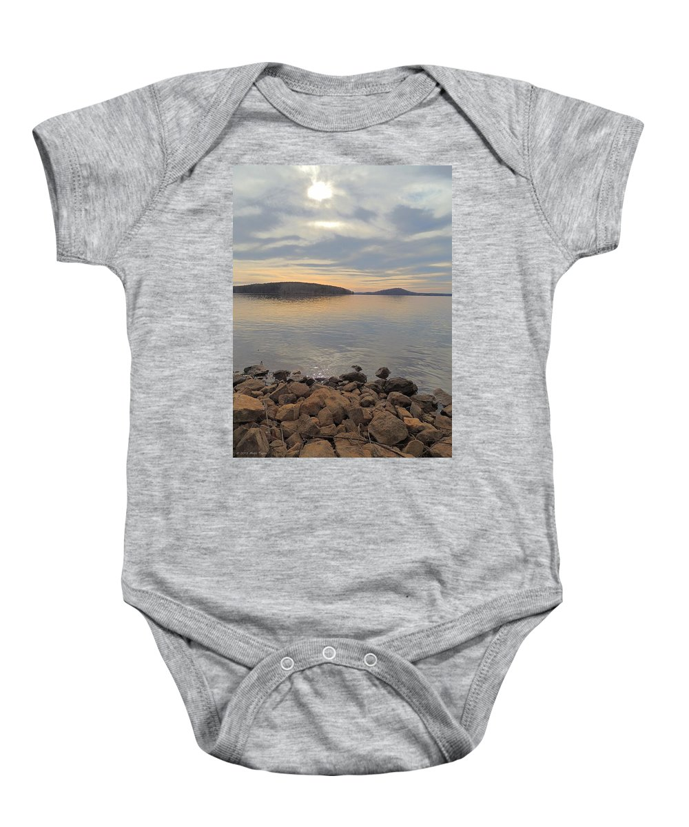 Shore Baby Onesie featuring the photograph Shoreline At King's Mountain Point by Matt Taylor