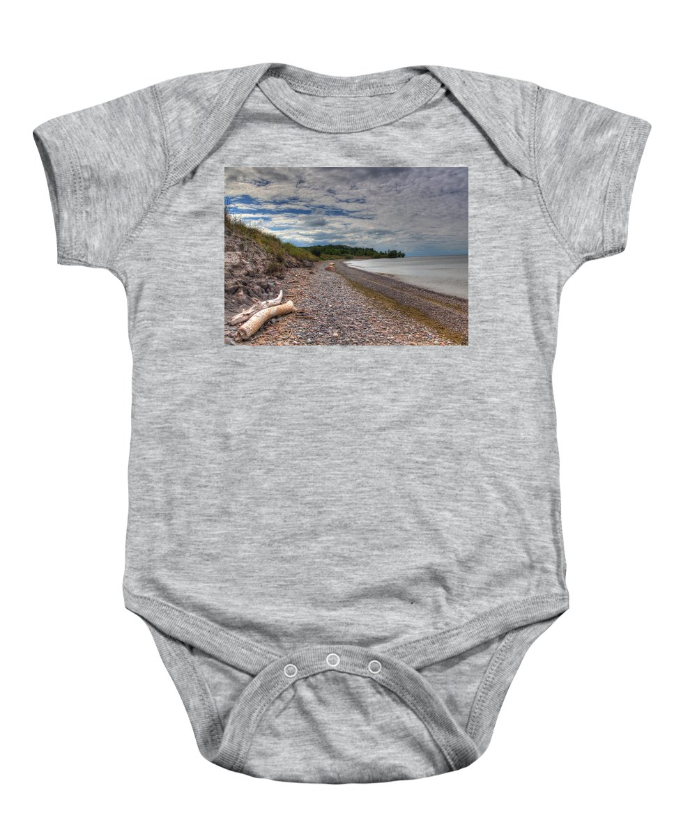 Lake Ontario Baby Onesie featuring the photograph Shoreline Lake Ontario by Tim Buisman