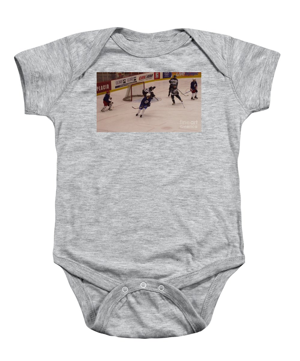 Shot From The Point Baby Onesie featuring the photograph Shot From The Point by John Telfer