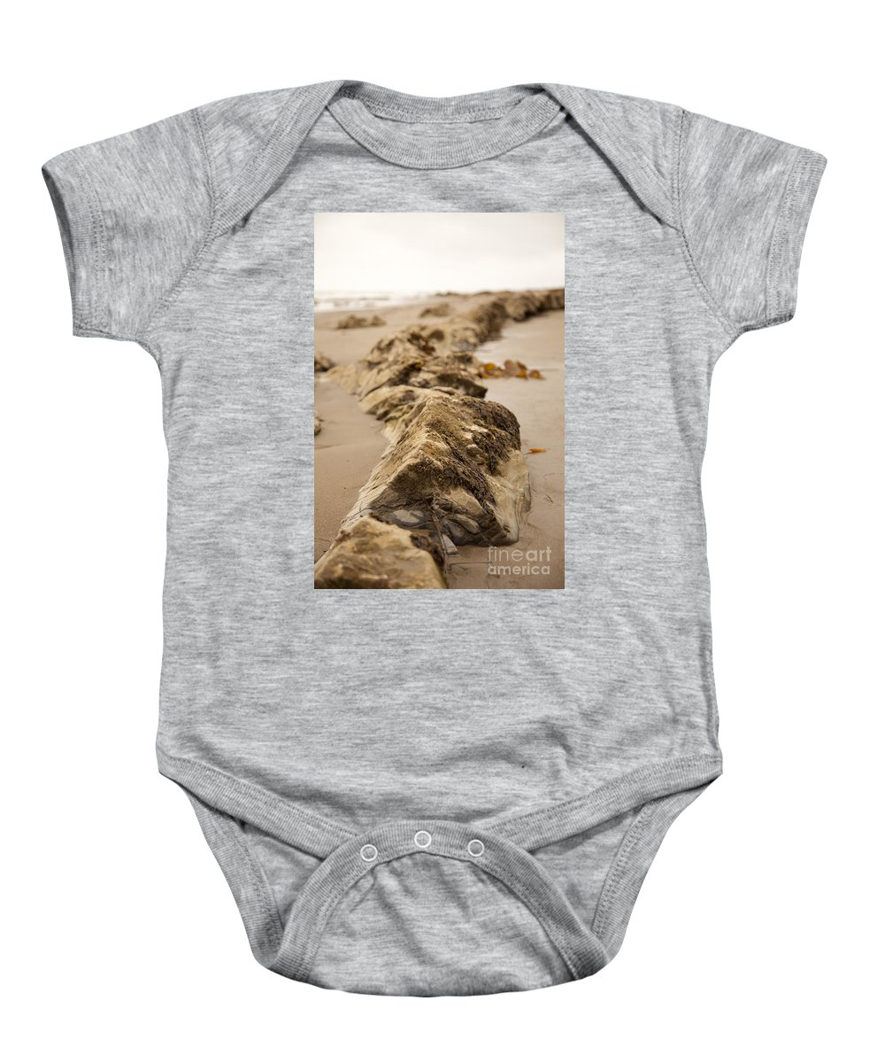 rocky Shore Baby Onesie featuring the photograph Side Winding by Amanda Barcon