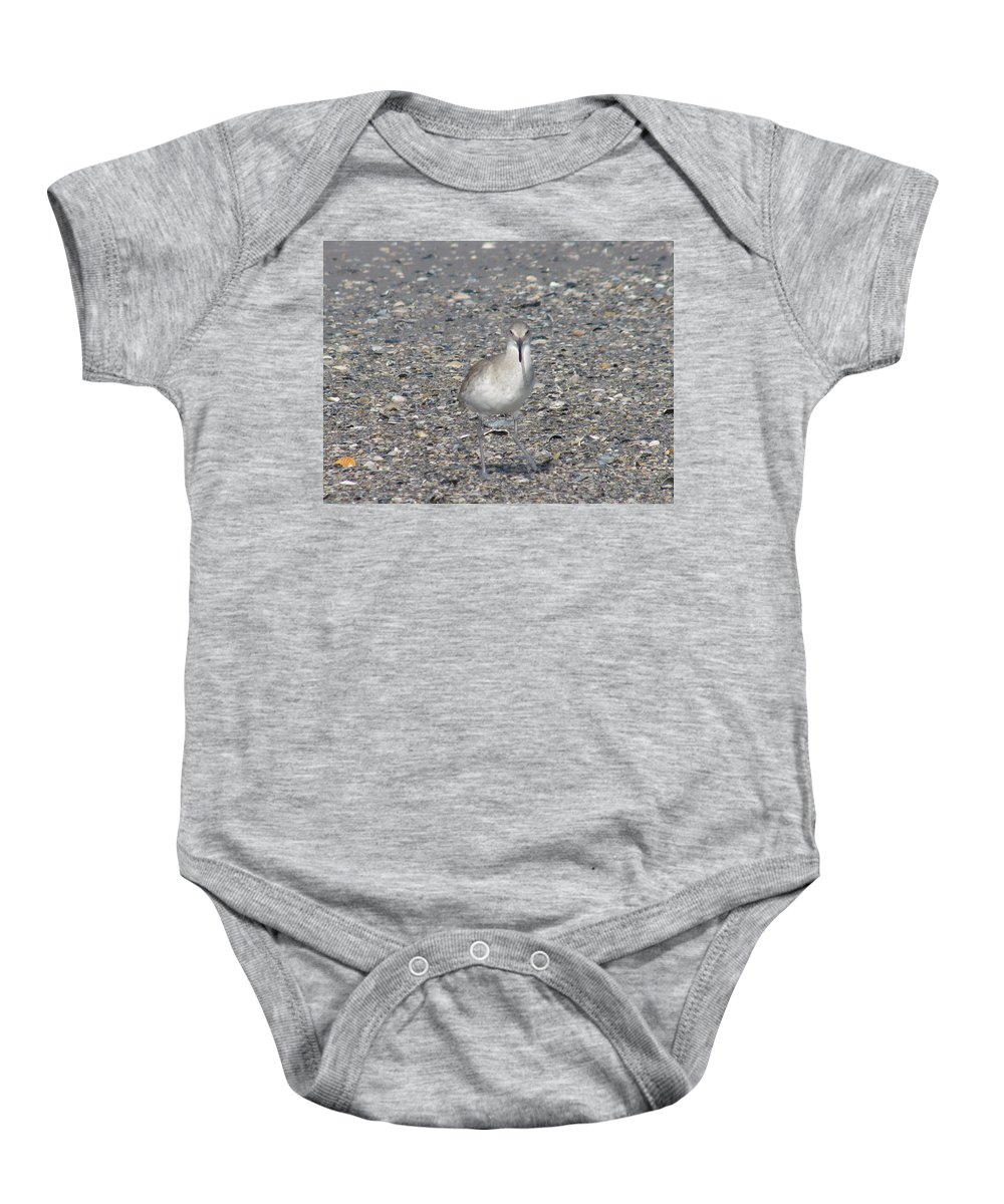 Landscape Baby Onesie featuring the photograph Sidestepping Sandpiper by Ellen Meakin