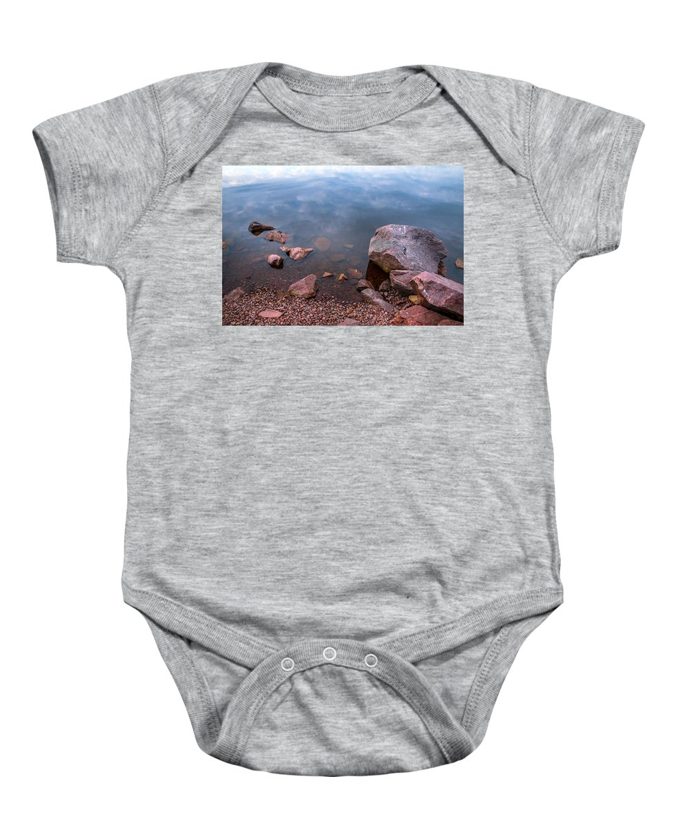 Nature Baby Onesie featuring the photograph Silent Waters. Ladoga Lake by Jenny Rainbow