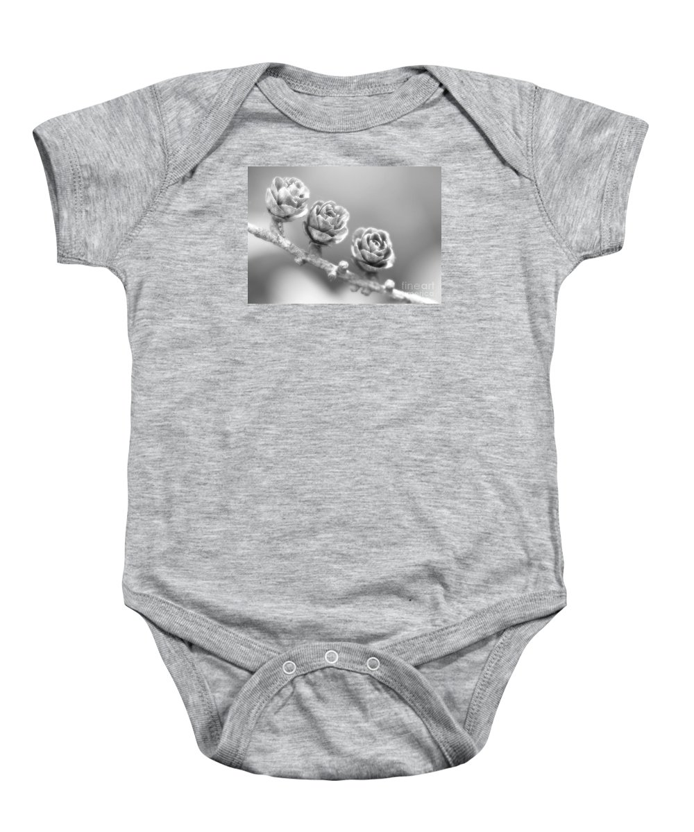 Festblues Baby Onesie featuring the photograph Silver Lining.... by Nina Stavlund