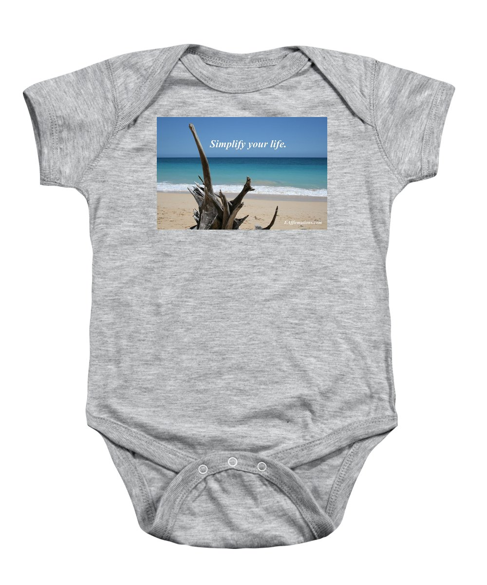 Maui Baby Onesie featuring the photograph Simplify Your Life by Pharaoh Martin